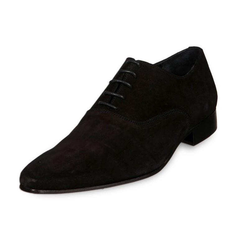 mieux aimé f41c8 57b46 Chaussure homme en daim noir Francisco Verdi