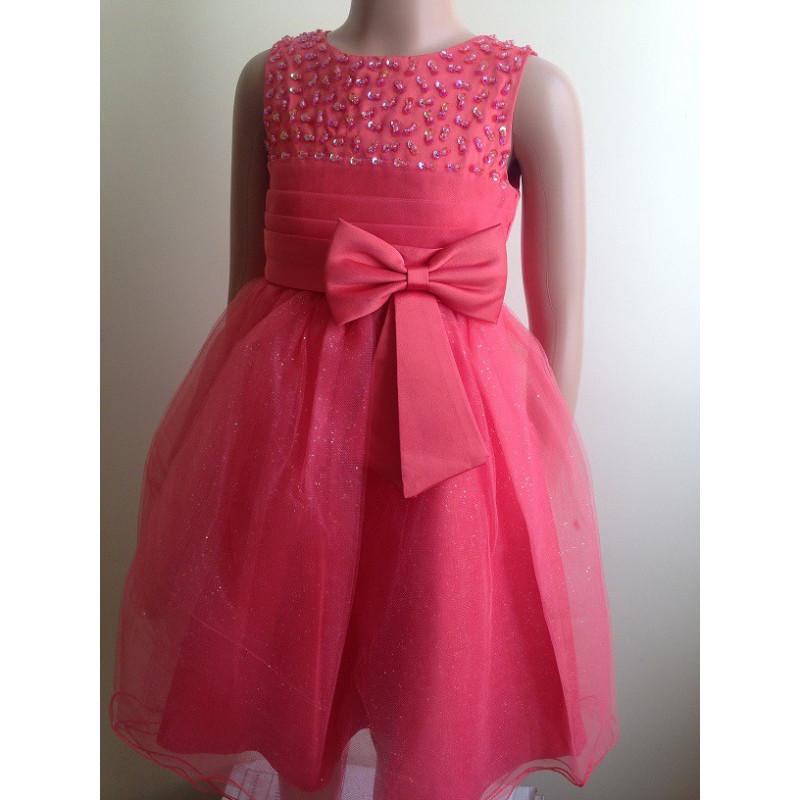 aa88756bae8 robe fille ceremonie corail
