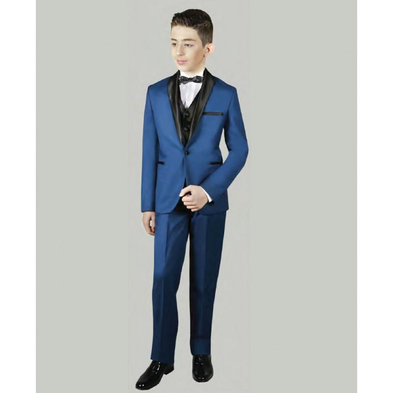 costume enfant bleu roi jean les petits mecs. Black Bedroom Furniture Sets. Home Design Ideas