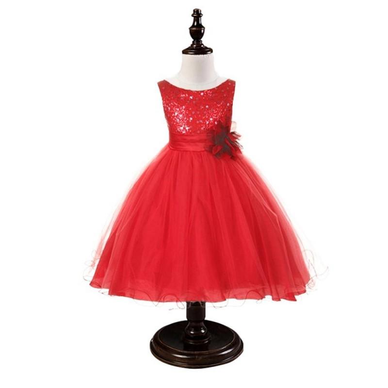 d4aaabdf86cab Robe fille rouge Noel - ceremonie express