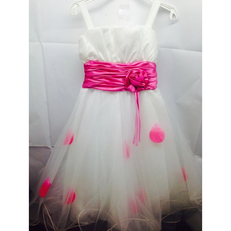 magasin en ligne 47f07 5414a robe fille blanc et fuchsia taille 6 ans