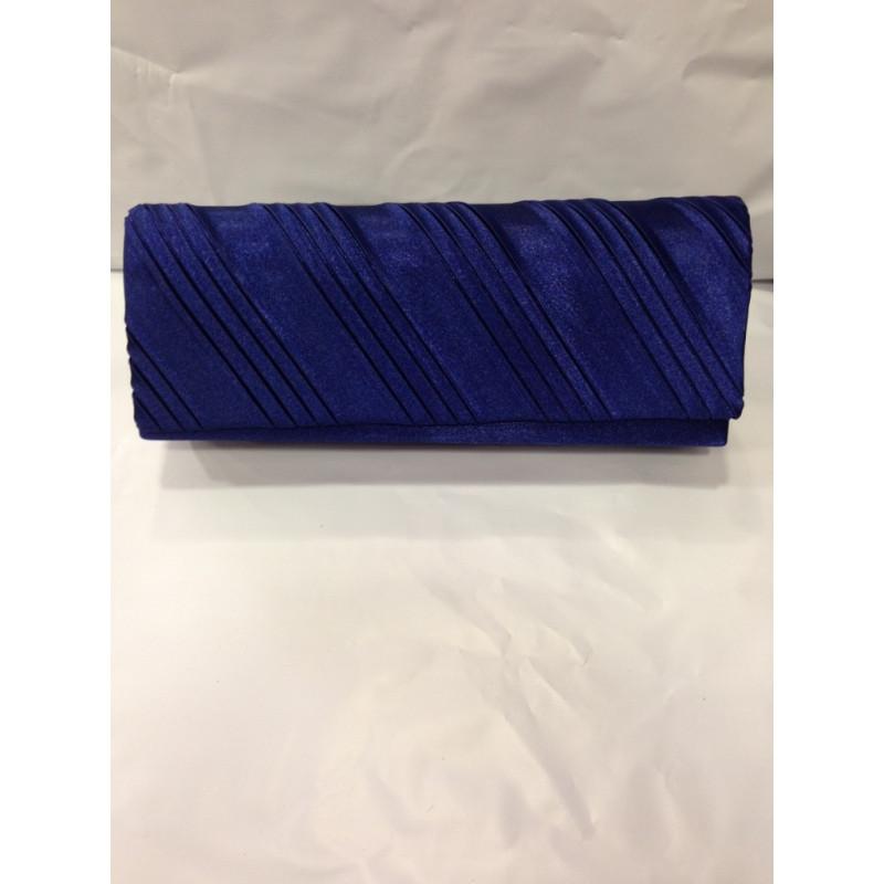 64aa30769d Pochette de soirée en satin bleu marine - ceremonie express