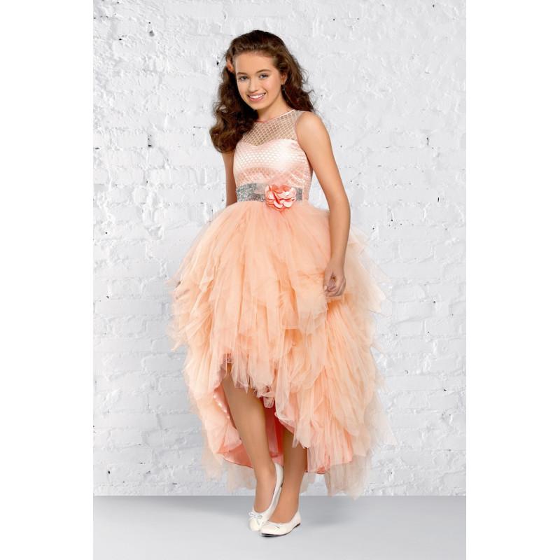d97c9ddce8453 robe fille couleur saumon christella