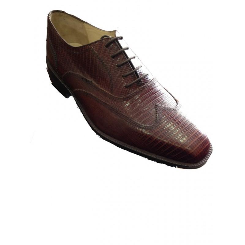 Cuir Pour Marron Homme Chaussures Lezard FulKTc31J5