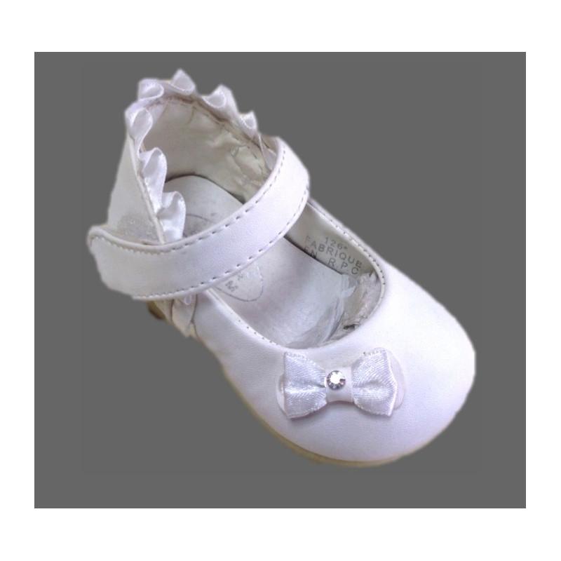 nouveau produit 4d1df 42687 Chausson bébé fille blanc de cérémonie bapteme