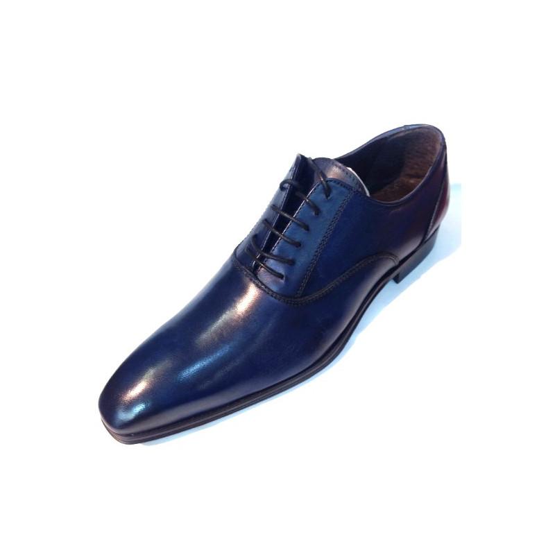 chaussure homme de ville bleu en cuir vaporeto. Black Bedroom Furniture Sets. Home Design Ideas