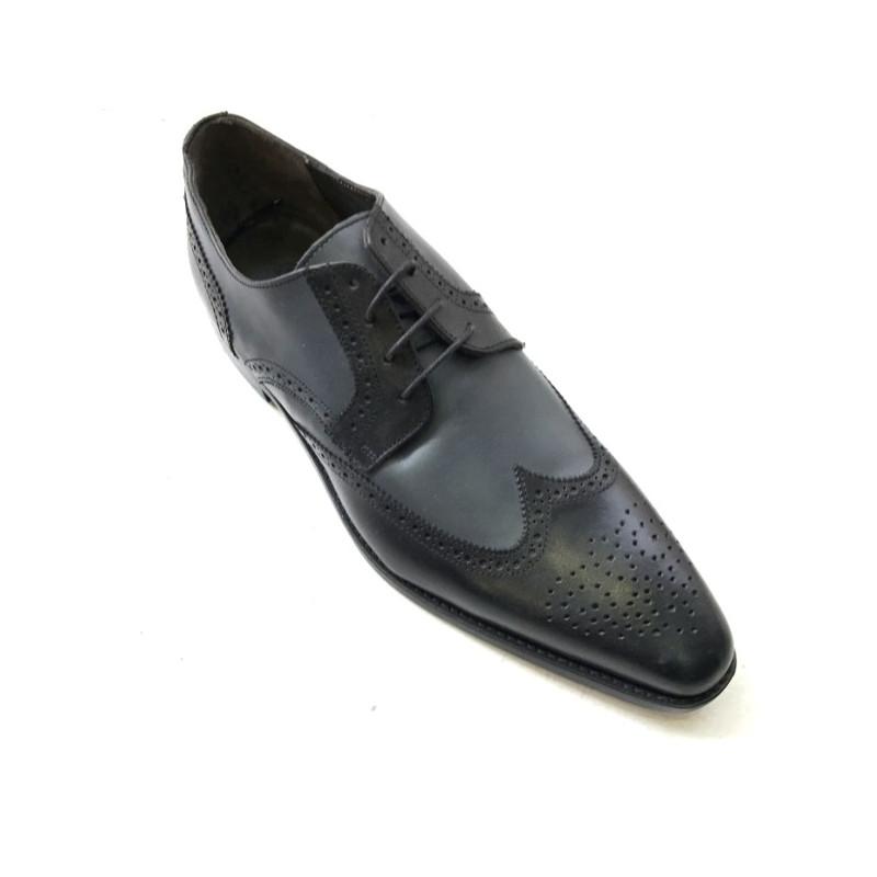 33d5556423896e Chaussure homme bicolore noir et gris JEFF 28. Loading zoom