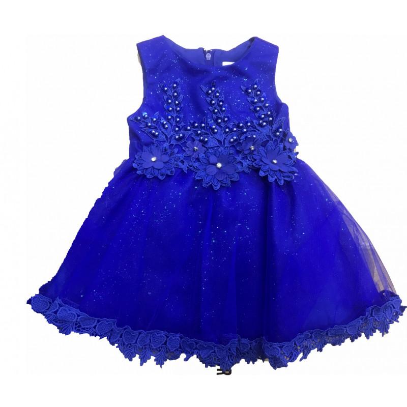 Robe Bebe Bleu Roi De 3 Mois A 2 Ans Ceremonie Express
