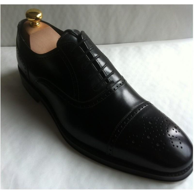 Cuir Homme Richelieu Richelieu Cuir Chaussure Noir Noir Homme Chaussure PuOXiZk